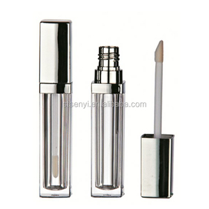 Hot product square lip gloss cosmetic packaging tubes with sponge applicators