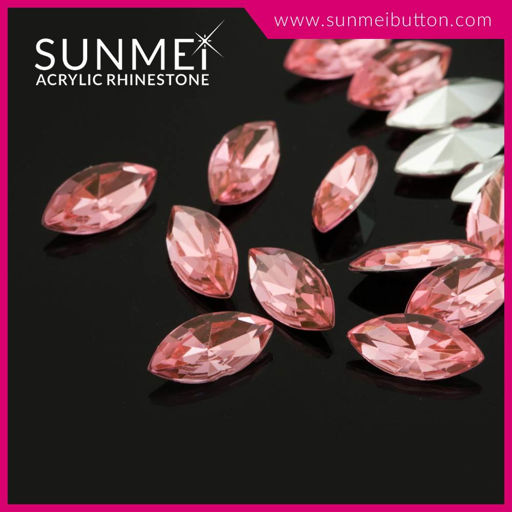 Bulk Wholesale Non Hotfix Rose Eye Shape Rhinestone