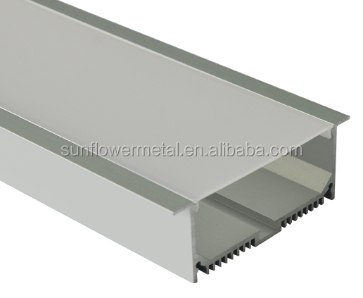 Factory supply clear anodized aluminum housing for LED light