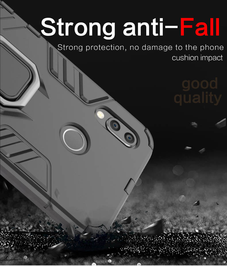TPU PC metal ring kickstand back cover phone case for huawei p20 lite,ring grip case for huawei nova 3e