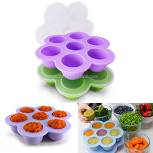 FDA approved BPA free baby food freezer tray/silicone baby food storage