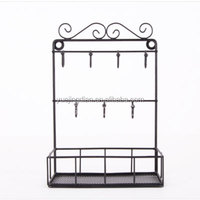 Factory supply artfully potted plants display stand metal flower hanging rack