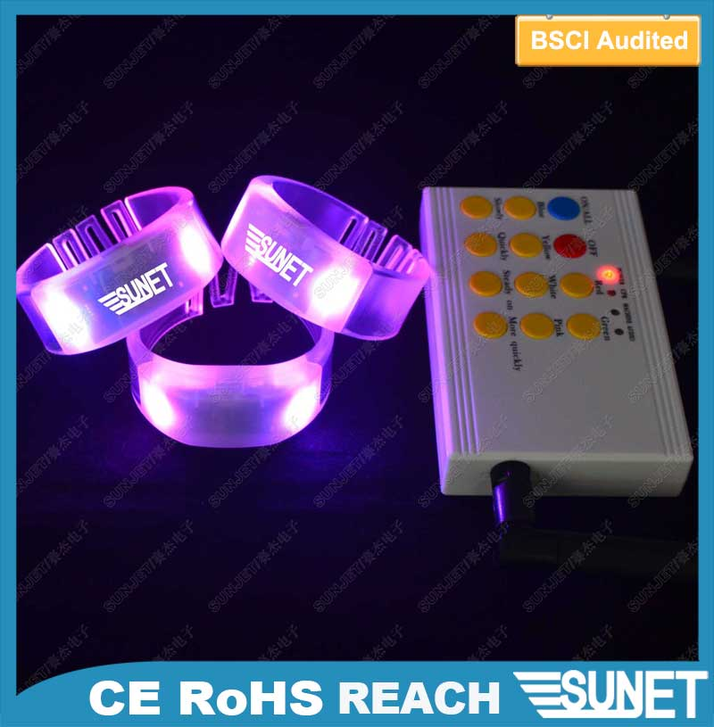 fashion and top motion sensor led spanish bracelets