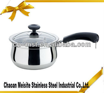 Stainless steel milk pot with single hand