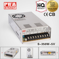 CE approved 350w adjustable 5v 60a regulated voltage switching power supply smps/led cctv enclose switching power supply