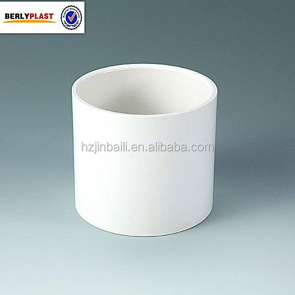 ASTM SCH40 PVC Sleeve Coupling White Color