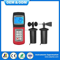 AM4836C High Accuracy Air Velocity Flow Temperature Hot Wire Anemometer wind meter anemometer Digital Anemometer