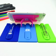 Touch-C U Shape Mini Lovely Universal Phone holder Silicone Stand with Card Slot for all cell phone