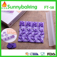 Flowers set fondant embossing cutter for cake decoration, fondant flower set impressing cookie cutter