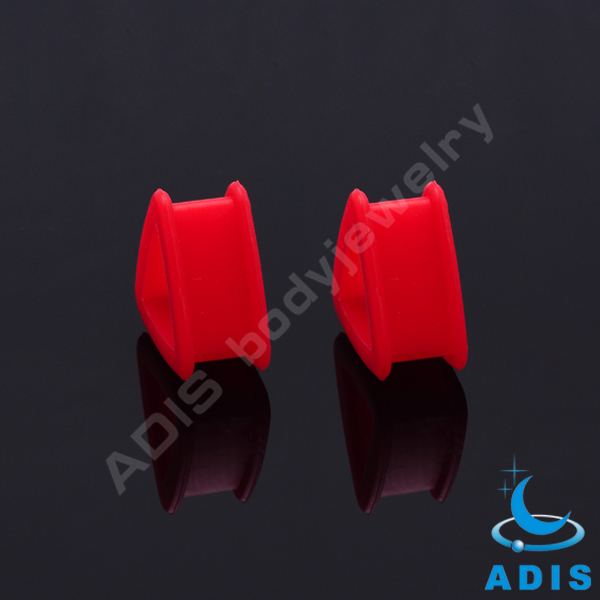 triangle wholesale silicone ear plug tunnel body jewelry