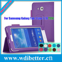 10 Colors Venus Leather Case For Samsung Galaxy T110 Tab3 Lite 7 Inch