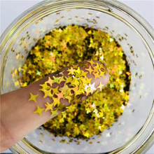 Glitter Amazon Four-pointed Star Glitter Sequin Star Shape Crystal Mud Slime Glitter Flakes for Decoration