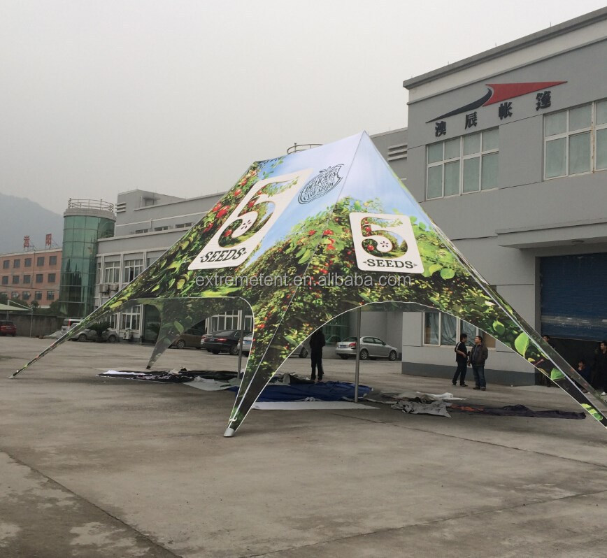 12M Premium Outdoor Printed Aluminum Twin star shade tent for camping