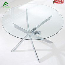 HOT SALE Modern Best Quality Chromed Legs Table Glass Conference Table
