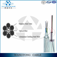 Opgw cable opgw price 48 core optical fiber cable