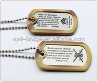 With silencer metal dog tag in stock