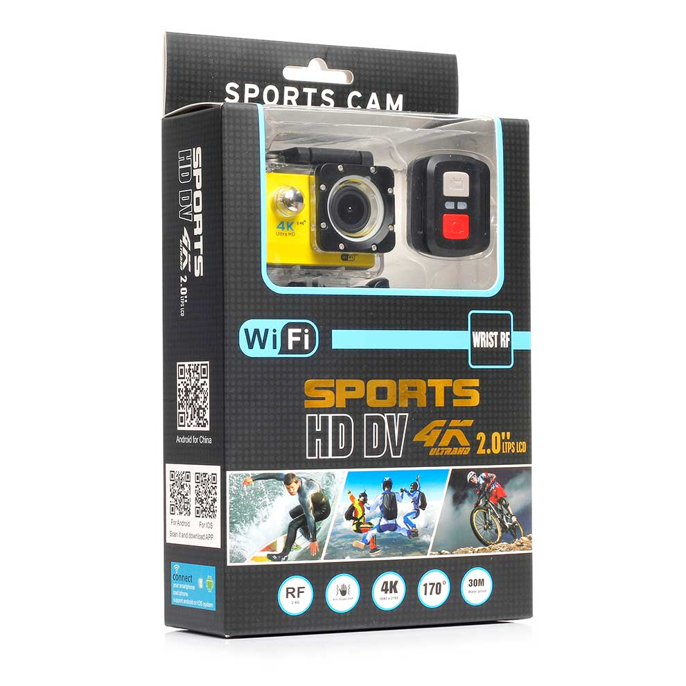 Waterproof 2017 Interpolated 4K Wifi Action Camera with 2.4G Remote Controller