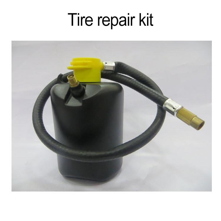 Convenient tire repair kit liquid tire repair sealant
