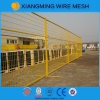 Factory wholesale powder coating steel security temporary fencing