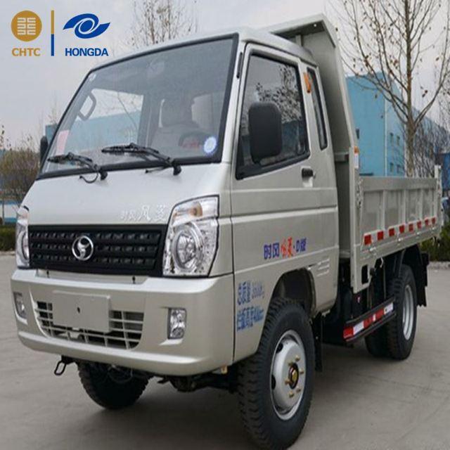 Gasoline Petrol 4x2 hydraulic controlkorea used dump truck for small dirt road transportation
