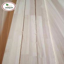 Low Price Paulownia Wood Finger Joint Board Primed S4S Panel Board