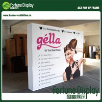 10'x8' (296x223cm) Magnetic Trade Show Portable Fabric Pop Up Backdrop