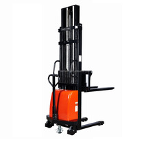 double mast semi auto pallet forklift DC motor lift electric stacker