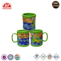Colorful animal plastic coffee mug