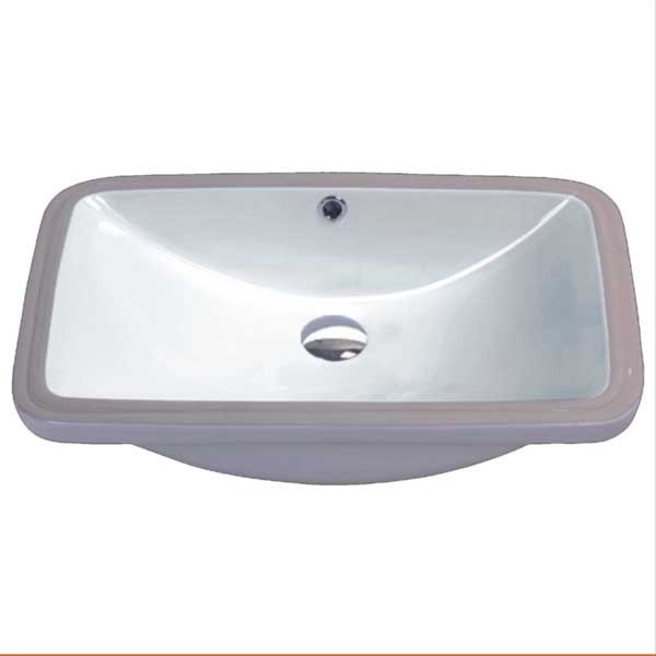 "17"" x 14"" undermount ceramic bathroom sink"