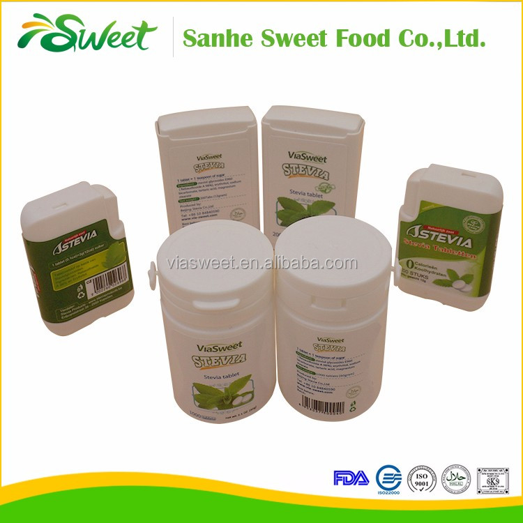 Hot sale stevia tablets sweetener in bulk in herbal extract from sugar factory