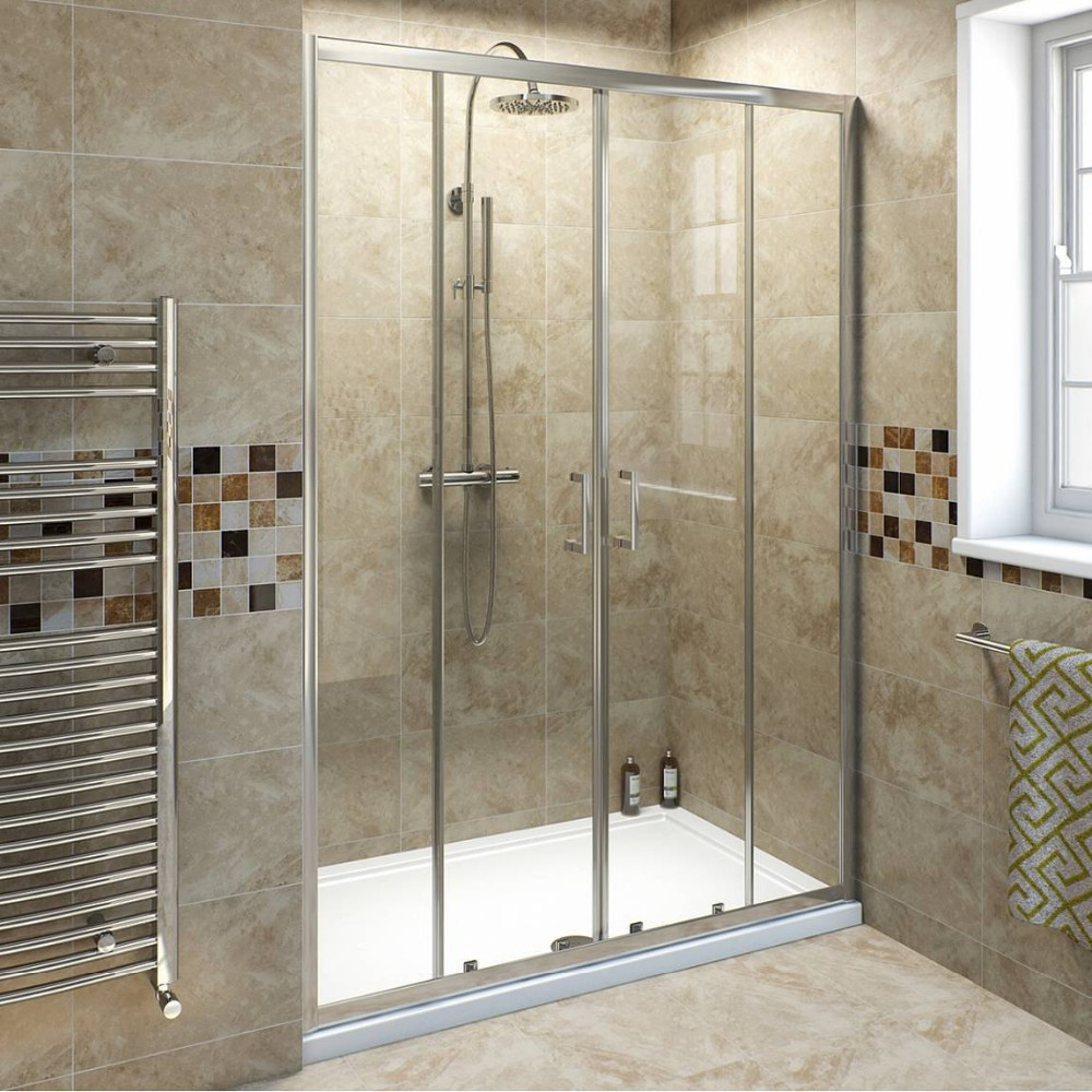 Used Sliding Plastic Shower Door With Magnetic Strip - Buy ...