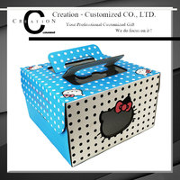 Quality Custom Healthy Material Paper Cake Box with Window Cooking Packaging