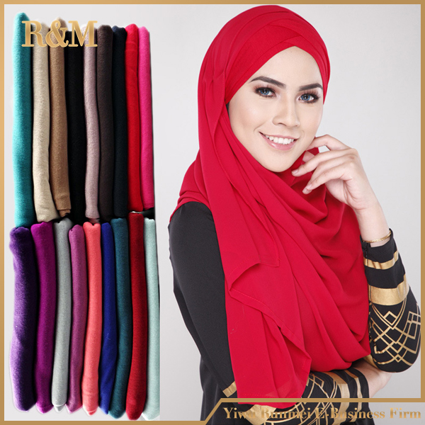 Fashional women factory muslim hijab cotton jersey scarf RM001