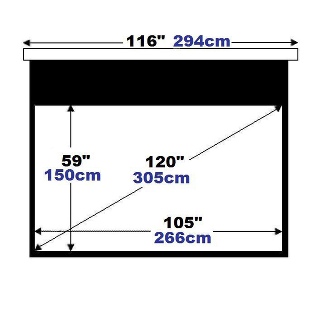 "High end Home Theater Use 120"" Inch Electric Motorized HD Projection Screen"