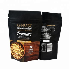 High Quality Food Grade Peanuts Packaging Aluminium Foil Bag With Zipper Stand Up Pouch