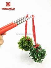 USA hot sell christmas party flexible PVC flower mistletoe