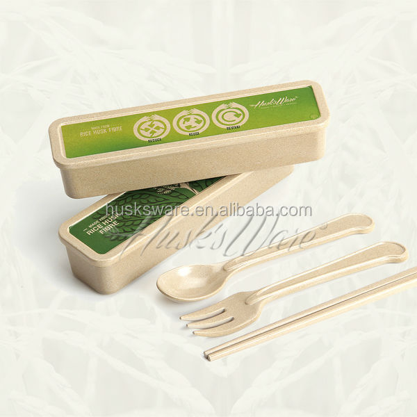 Recyclable and Non Disposable Cutlery Set, Biodegradable and 100% BPA Free
