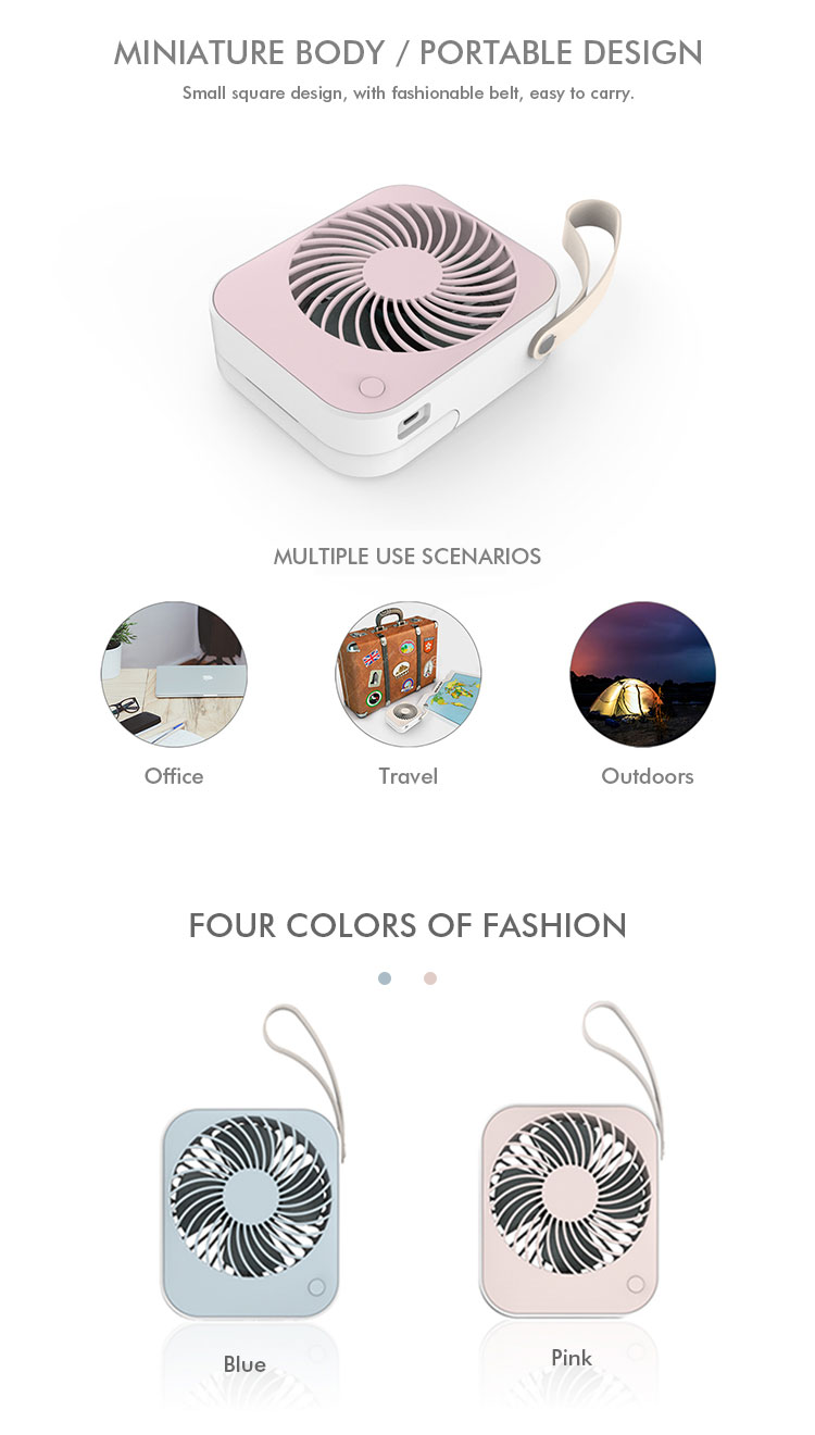 Useful Rechargeable mini fan portable usb fan