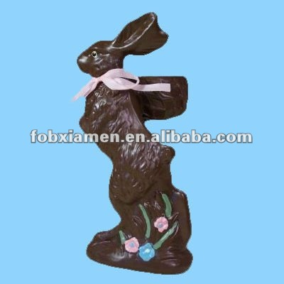 resin chocolate easter bunny figurine