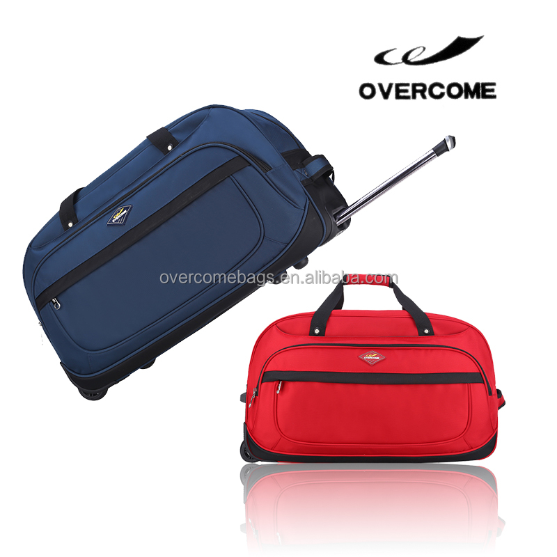 Factory wholesale cheap travel bag trolley luggage 2 wheels travel trolley bag