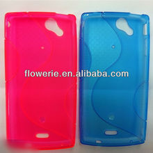 FL2314 2013 Guangzhou hot selling S line soft tpu back case for sony LT15i Xperia Arc X12