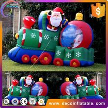 Outdoor christmas decorations large lowes christmas inflatables sitting santa claus