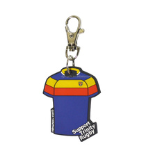 2018 world cup gifts mini custom logo rubber pvc football jersey t shirt keychain soccer shirt key chain