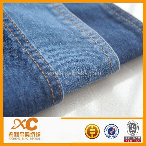 Top selling in made-in-china 100%Cotton denim fabric for Relaxed Straight jeans
