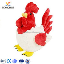 Easter day gift toy stuffed chicken lays eggs fashion cute red and white soft stuffed rooster plush