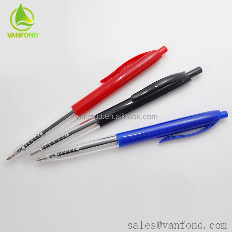 Simple Style Plastic Low Price Ball Pen for School