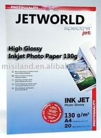 cast coated 130g inkjet glossy paper (top quality and waterproof)