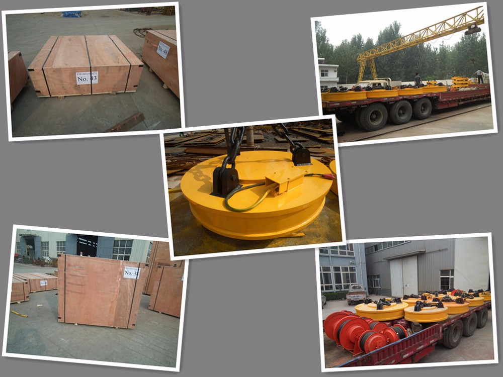 Industrial 500kg Metal Lifting Magnet Electric Lifting Electromagnet for Handling Steel Scraps