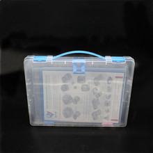 Durable slim B4 plastic office project filing storage stationery file folder box file/case with handle