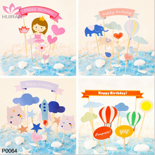 Wholesale Cartoon Children Baby Shower Paper Happy Birthday Party Decoration Cake Topper